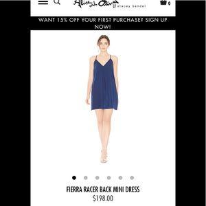 a7318415969 Alice + Olivia Dresses - Alice + Olivia royal blue Racerback mini dress